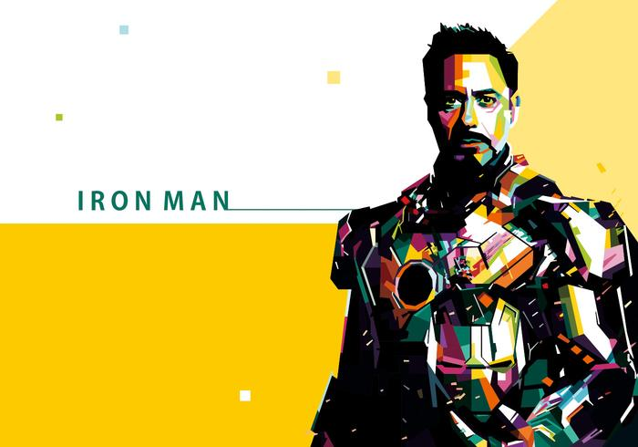 700x490 Iron Man Vector Portrait