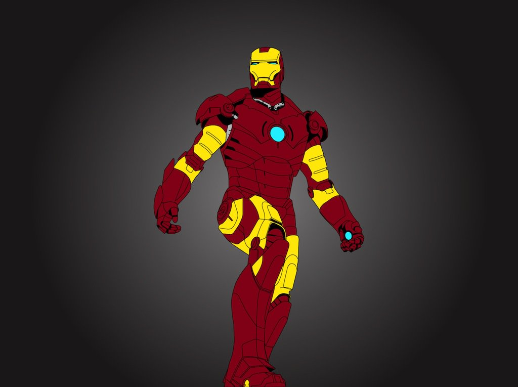 1024x765 Iron Man Vector Vector Art Amp Graphics