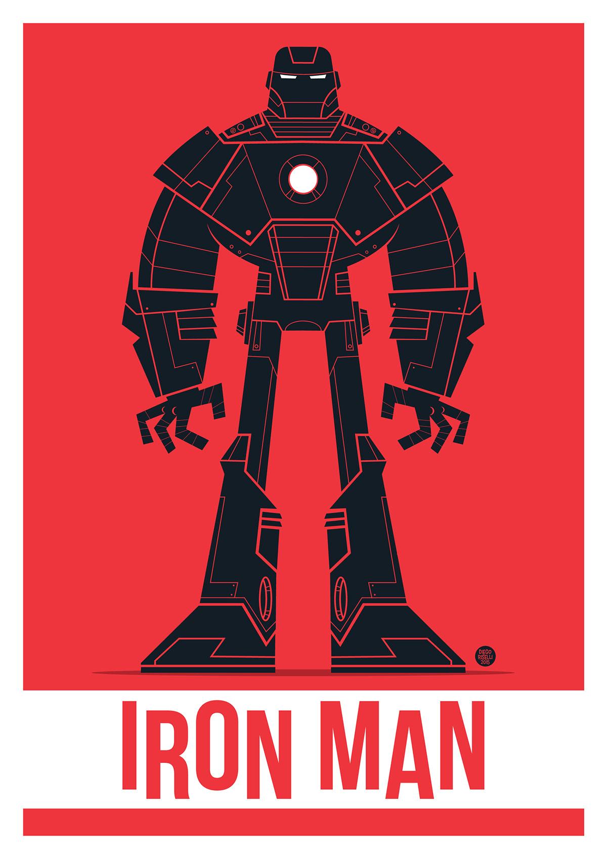 1200x1698 Iron Man Vector On Behance