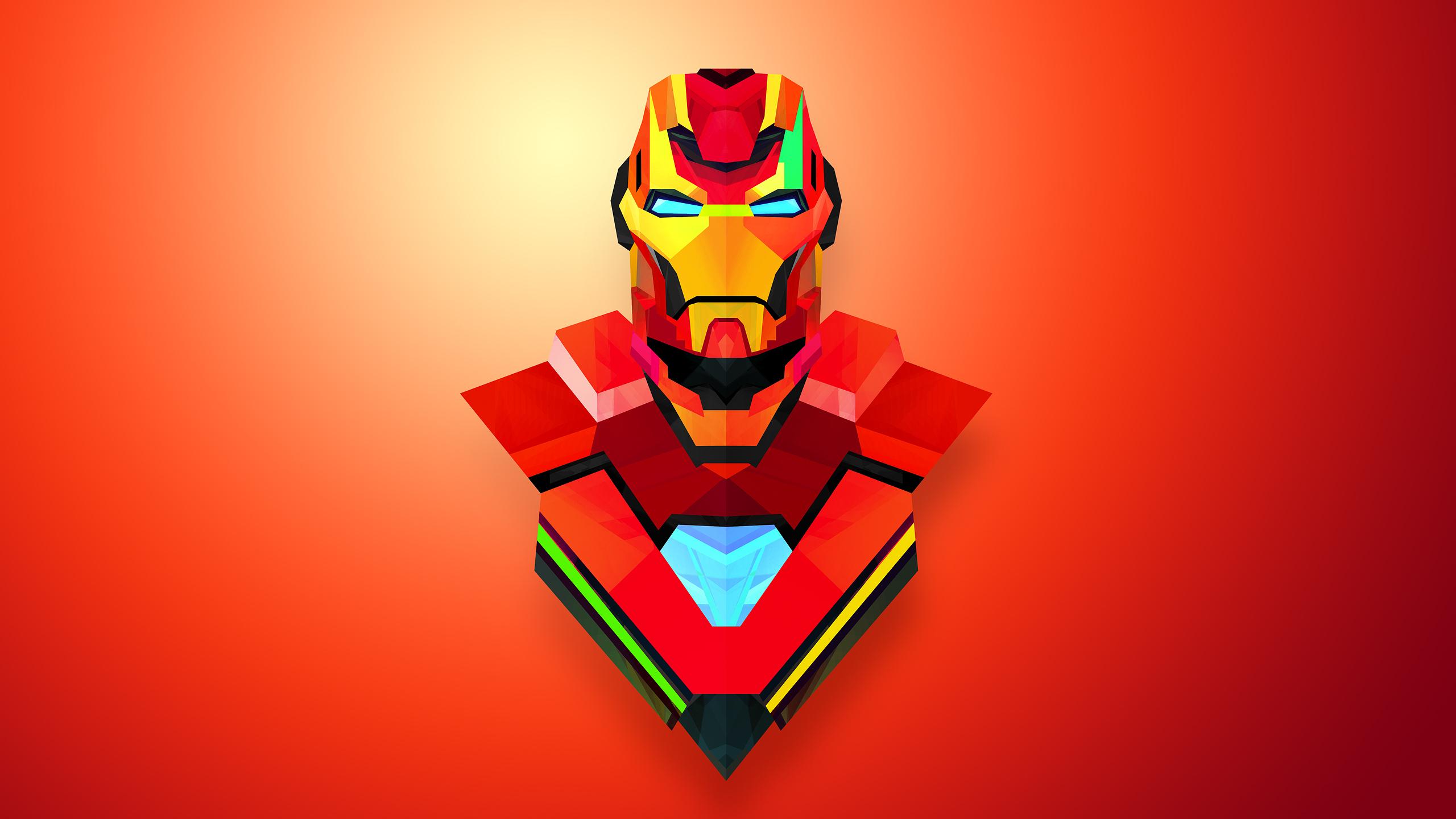 2560x1440 Wallpaper Heroes Comics Iron Man Hero Fantasy Vector 2560x1440
