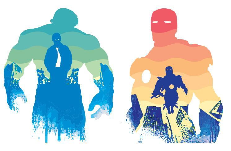 745x488 Free Watercolor Iron Man Amp Hulk Vector Illustration