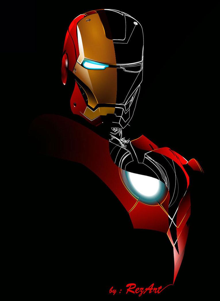 765x1045 Iron Man Vector By Rezdwinn