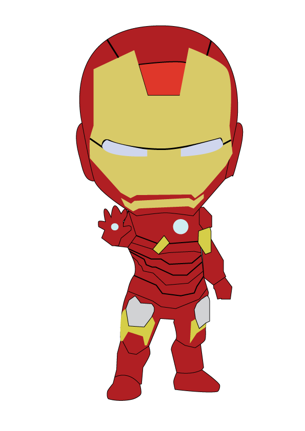 595x842 19 Ironman Vector Huge Freebie! Download For Powerpoint