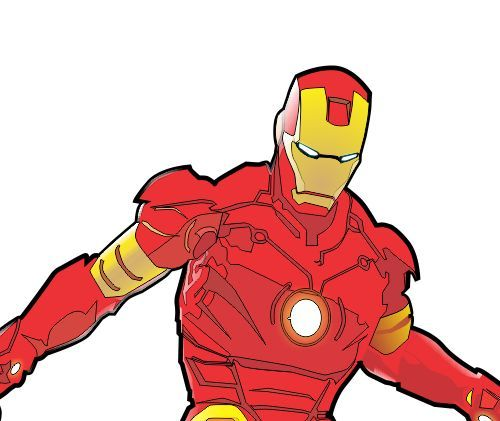 500x421 Iron Man Vector Clipart Panda