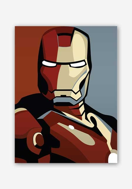 450x643 Iron Man Vector Art Poster
