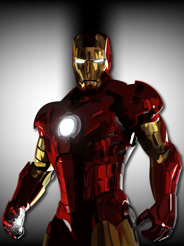 768x1024 Iron Man Vector By Graysource