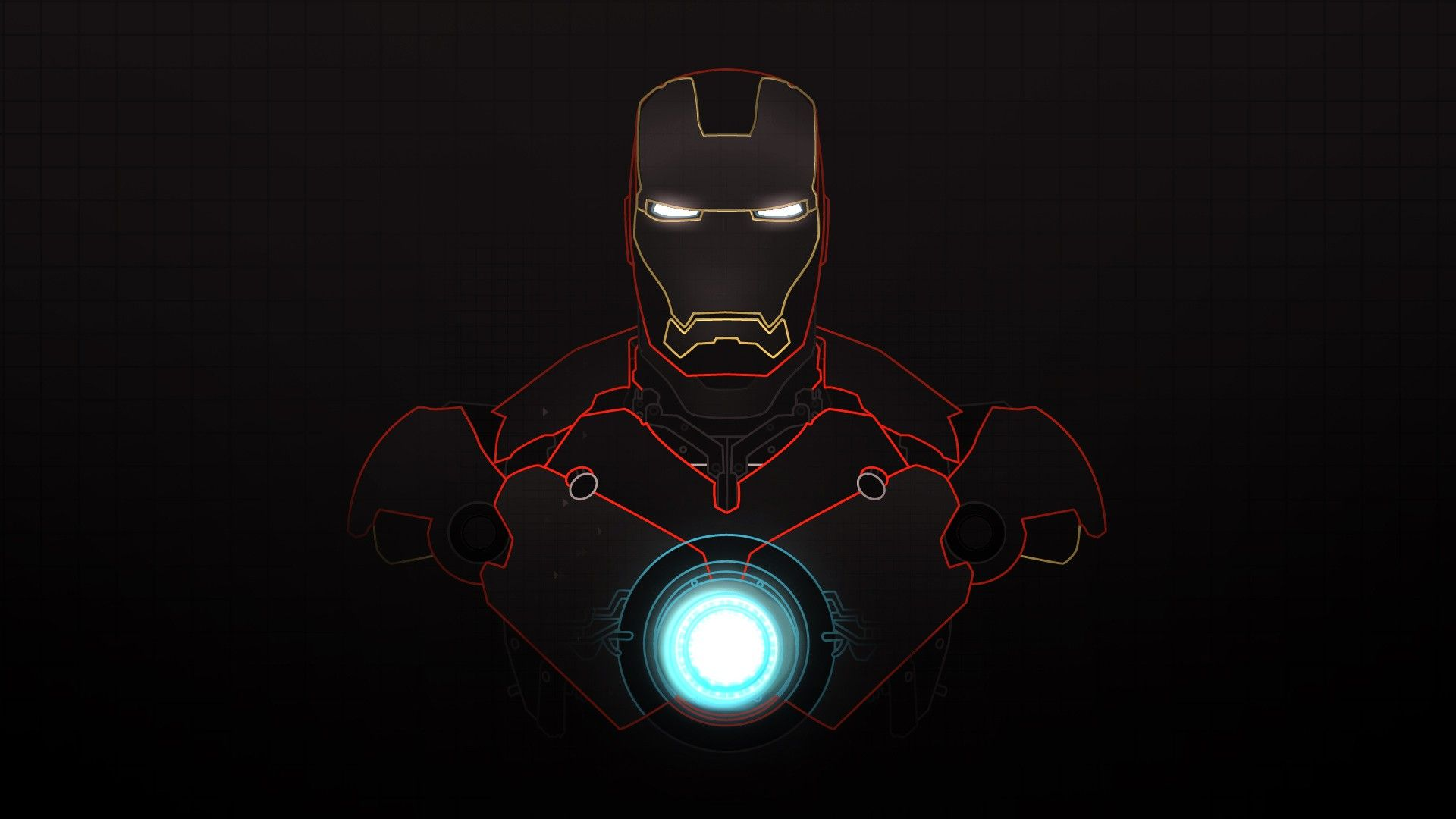 1920x1080 Iron Man Vector Artwork Marvel Comics Graphic Art 1920x1080