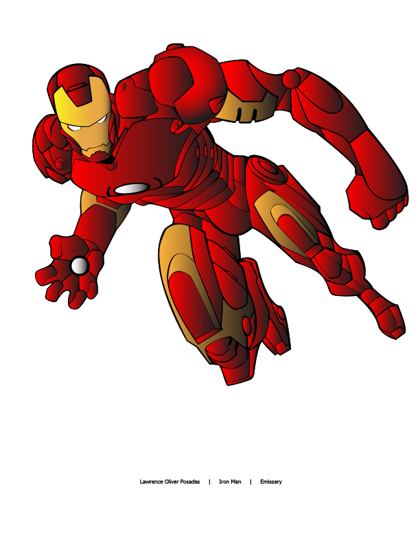 612x792 Lawrenzo Vector Assignment Iron Man