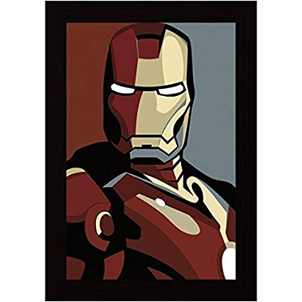425x425 Posterskart Iron Man Vector Art Framed Poster (14x20 Inches
