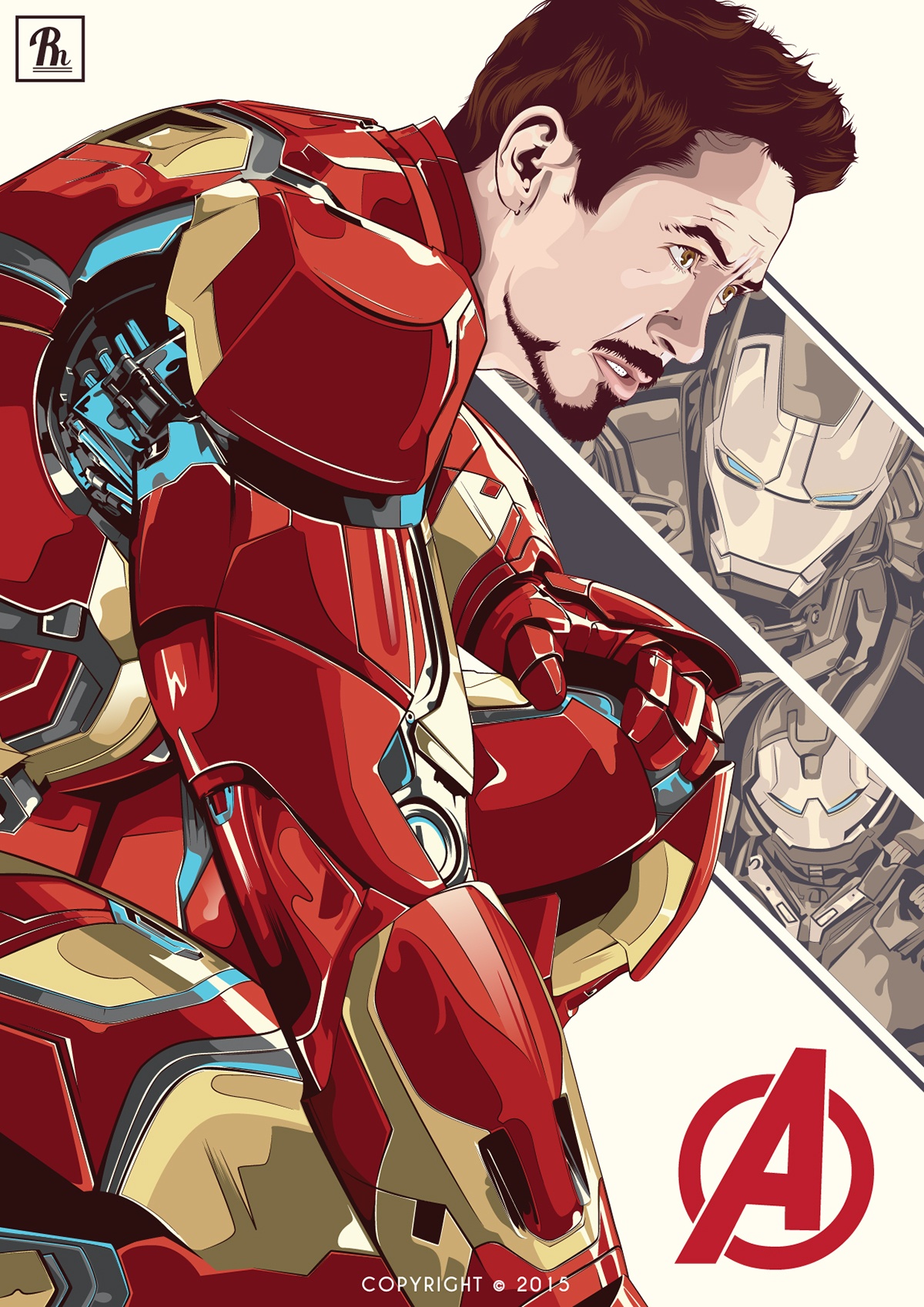 1200x1697 Robert Downey, Jr. Iron Man On Behance