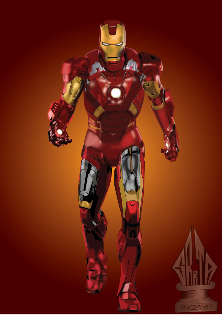 747x1069 Iron Man Vector Art By Sartauzumaki