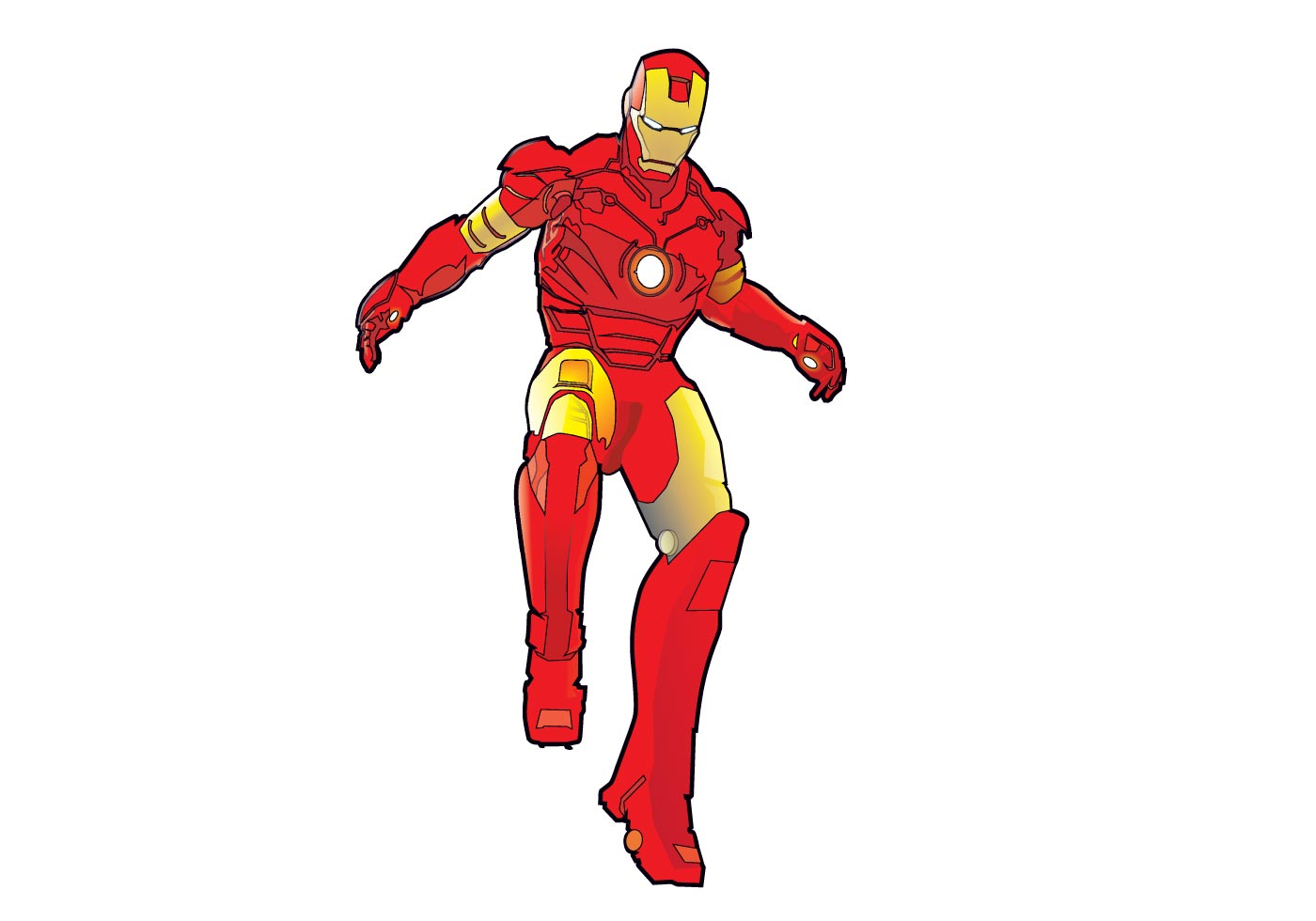 1400x980 Free Iron Man Vector