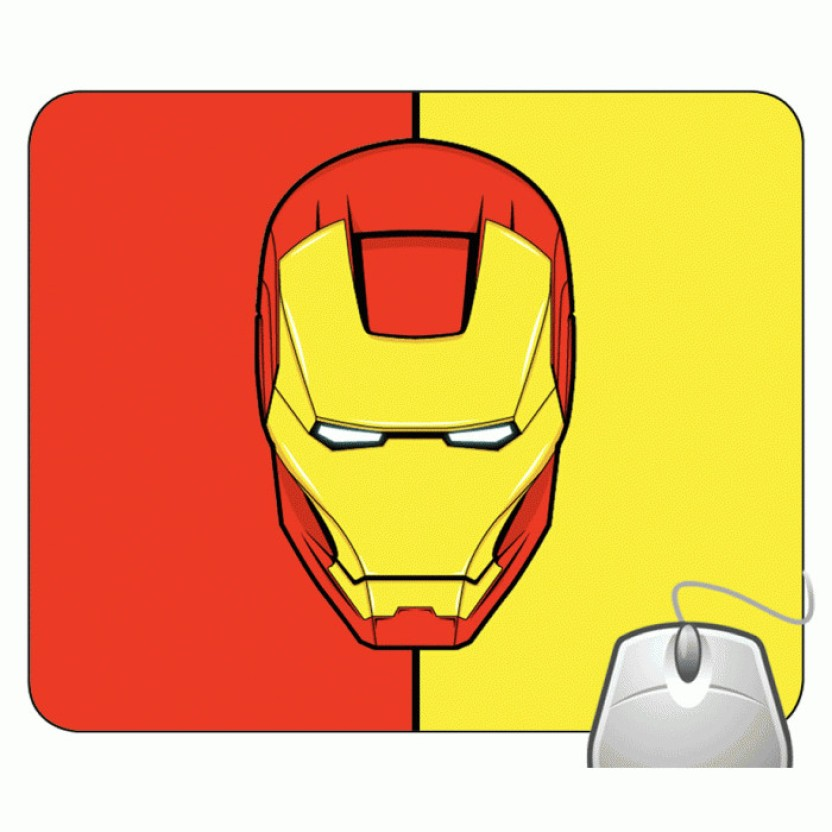 832x832 Headturnerz Iron Man Vector Art Mousepad
