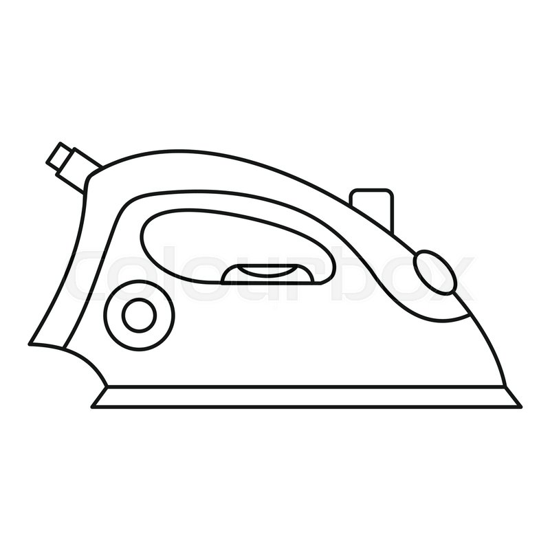 800x800 Iron Icon. Outline Illustration Of Iron Vector Icon For Web