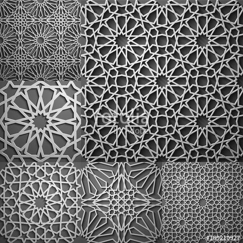 500x500 Islamic Pattern . Seamless Arabic Geometric Pattern, East Ornament