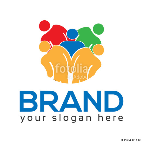 500x500 Team Working Together. Group Of People. Team Work. Logo Vector