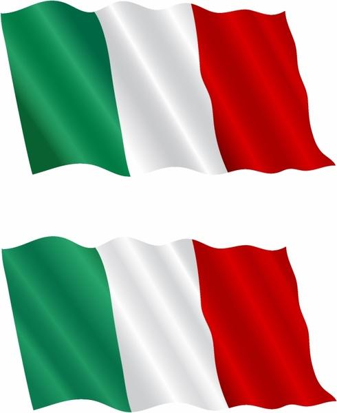 490x600 Italian Flag Flying In The Wind Free Vector In Adobe Illustrator