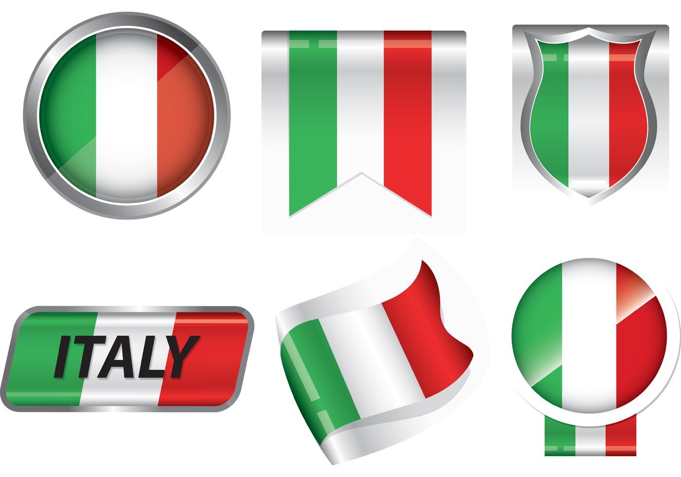 1400x980 Italian Flag Free Vector Art
