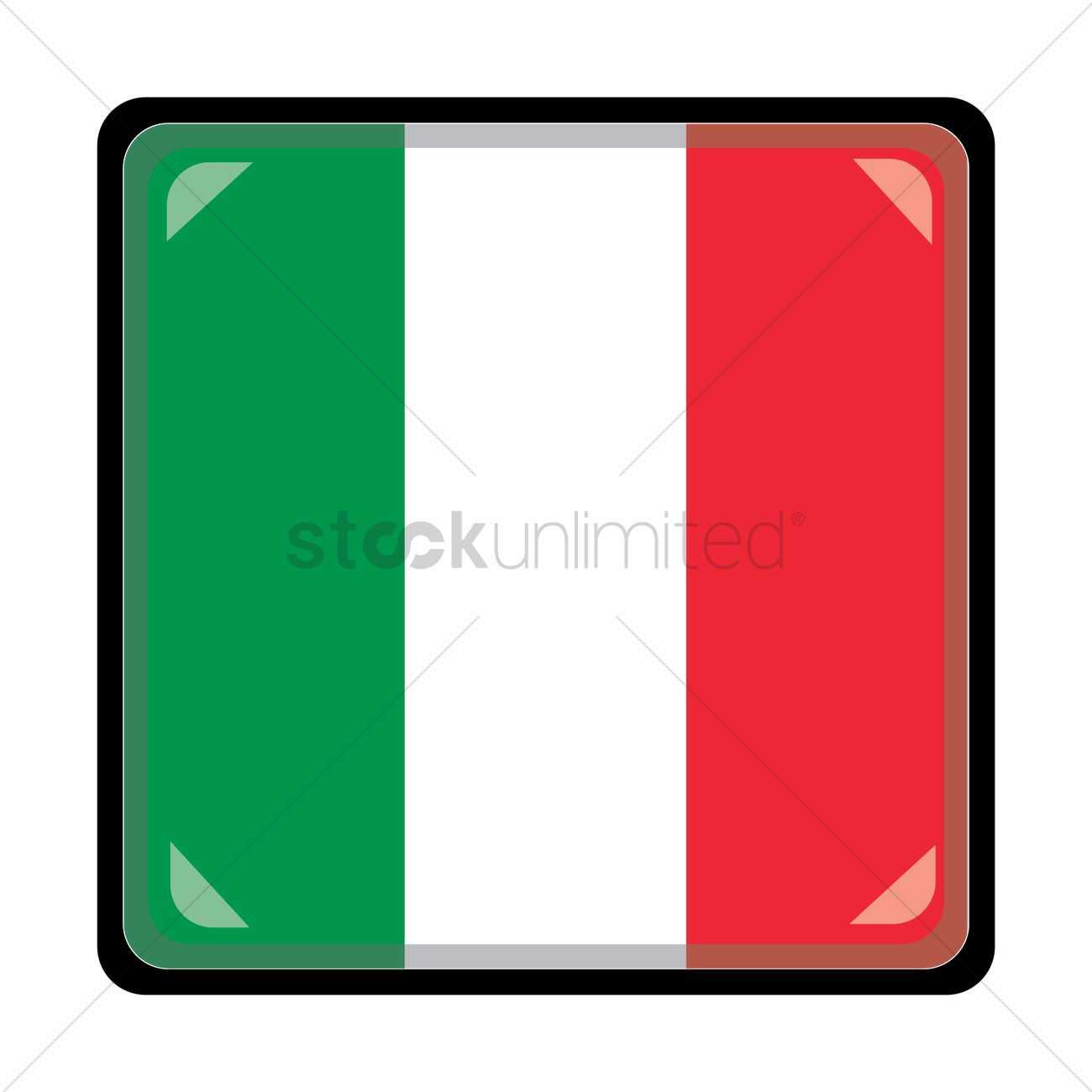 1300x1300 Italian Flag Vector Image