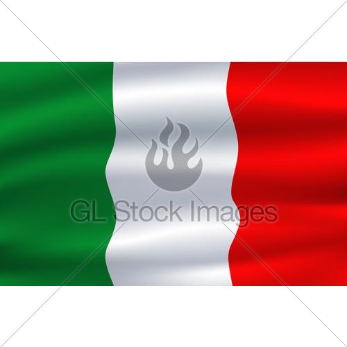 500x500 Italy Flag. Vector Italian National Symbol Gl Stock Images