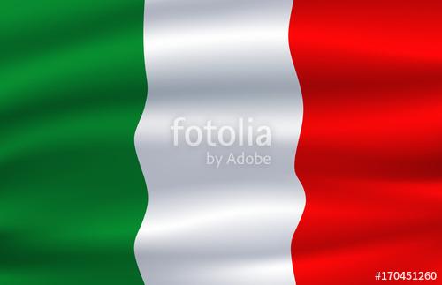 500x323 Italy Flag. Vector Italian National Symbol Stock Image And