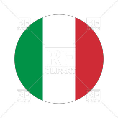 400x400 Round Icon Of Italy Flag Vector Image Vector Artwork Of Flags
