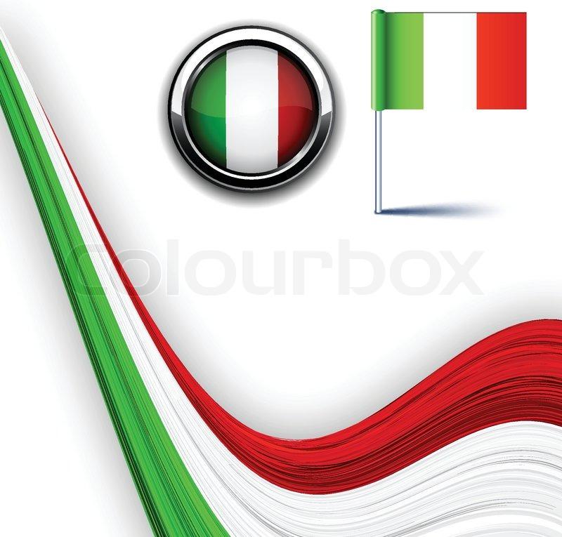 800x765 Vector Illustration Of National Italian Flag Stock Vector