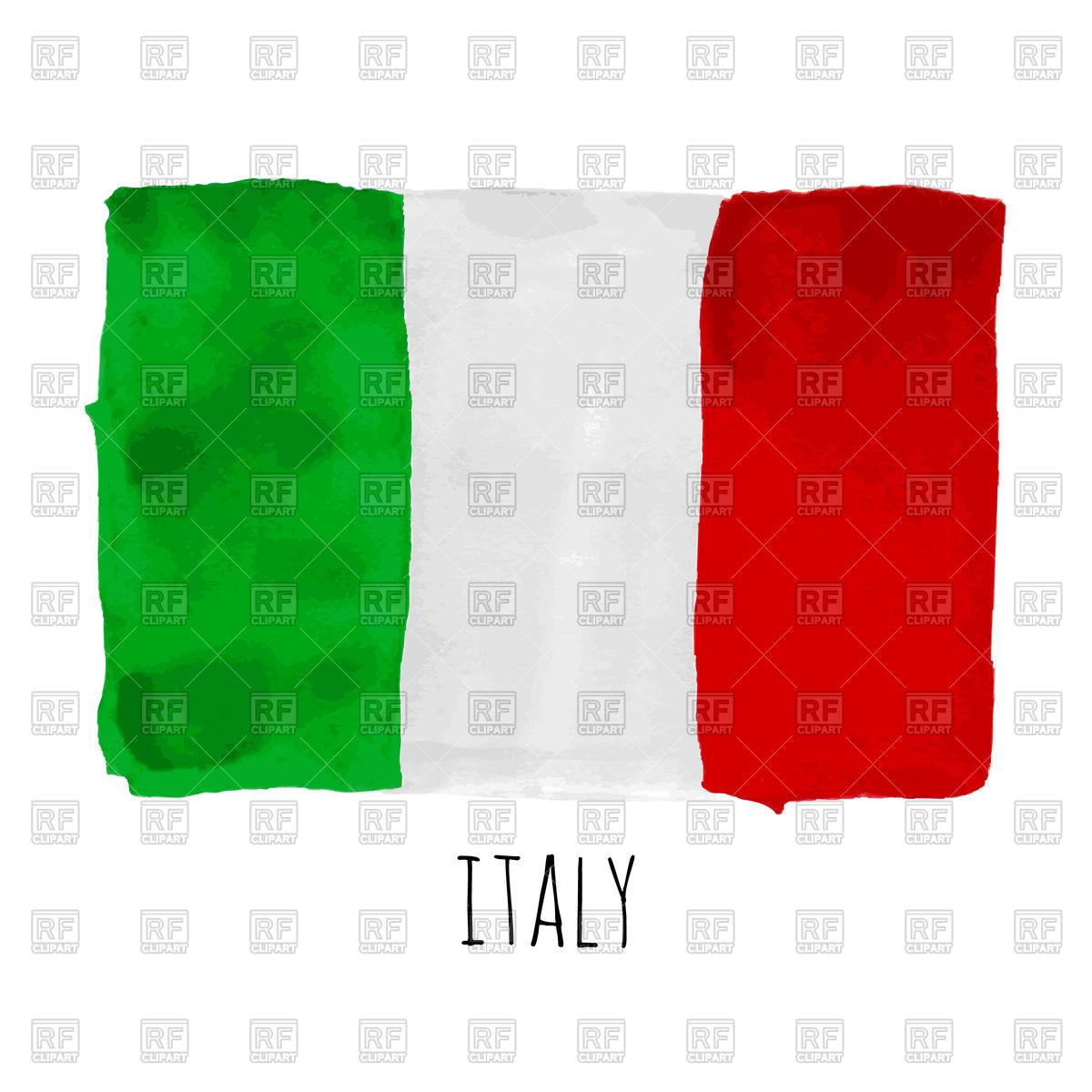 1200x1200 Hand Drawn Watercolor Italy Flag Vector Image Vector Artwork Of