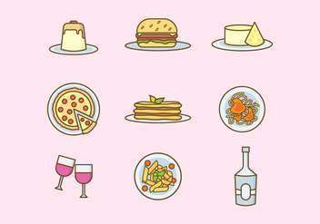 352x247 Free Italian Food Icon Set Free Vector Download 405385 Cannypic