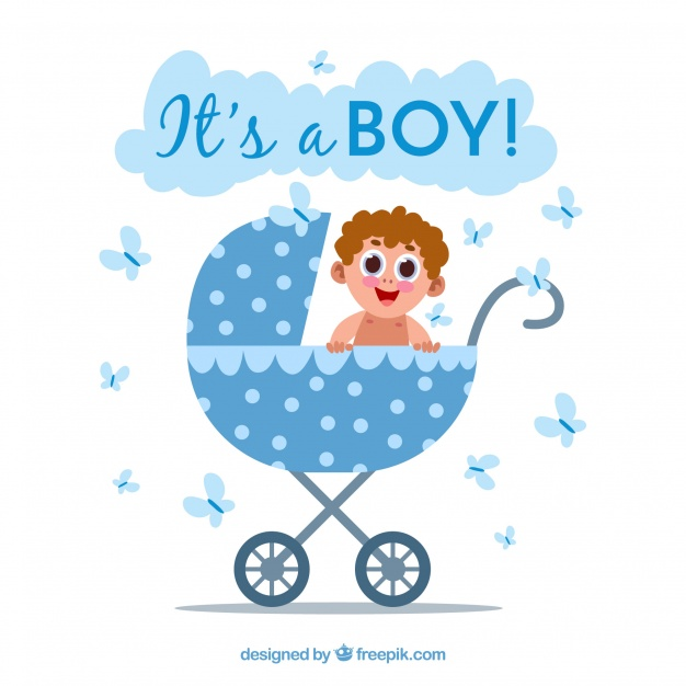 626x626 Its A Boy Background With Cart Vector Free Download
