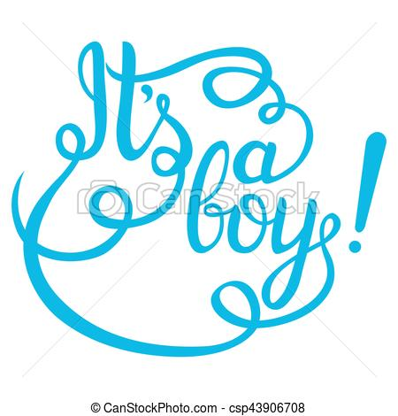 450x470 Its A Boy Lettering. Baby Shower Vector Invitation For Card And More.