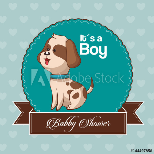 500x500 Baby Shower Card Invitation Its A Boy Vector Illustration Eps 10