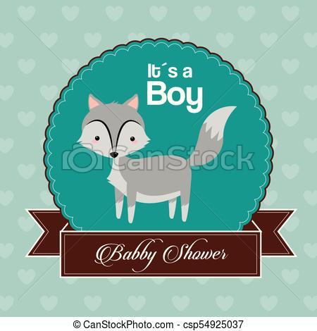 450x470 Baby Shower Card Invitation Its A Boy Celebration Vector