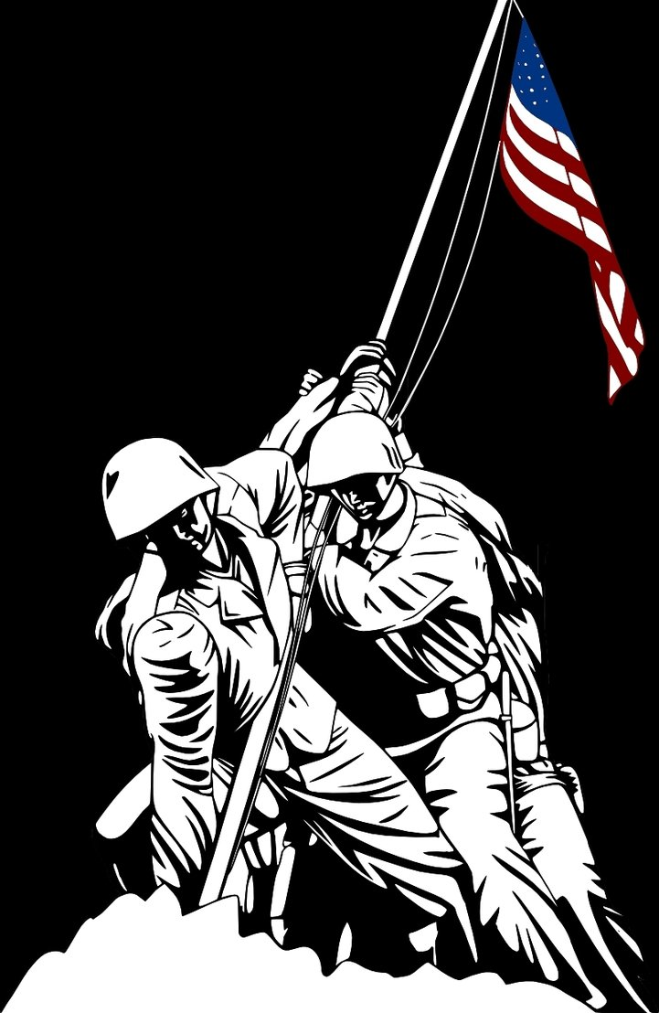 721x1108 Iwo Jima Memorial Color Vector Illutration By Timdallinger On