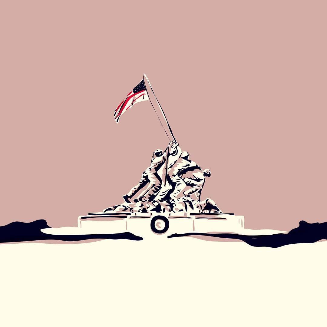 1080x1080 Roee Ovadia (@roeeo) On Instagram Corps War Memorial (Iwo