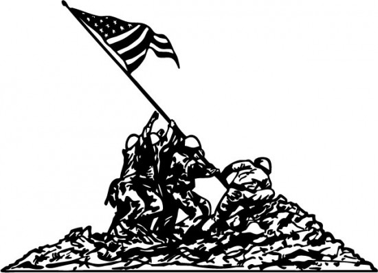 550x397 Collection Of Iwo Jima Memorial Drawing High Quality, Free