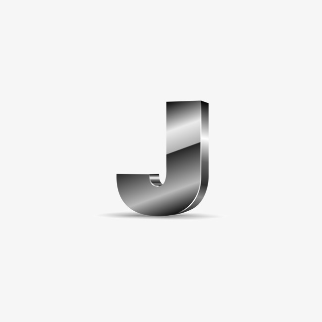 650x651 Silver Black Letters J, Silvery, Black, Letter J Png And Vector