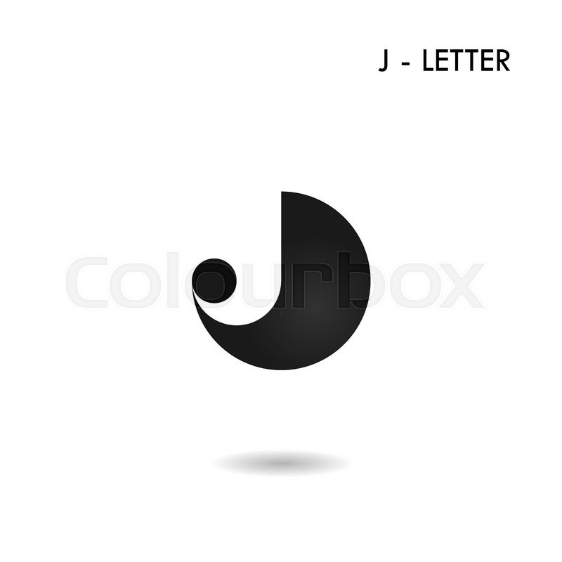 800x800 Black Circle Sign And Creative J Letter Icon Abstract Logo Design