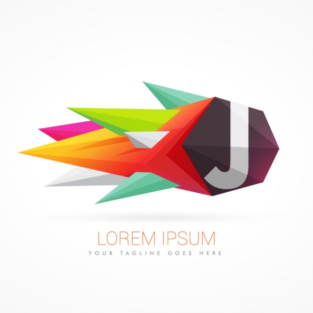626x626 Colorful Abstract Logo With Letter J Vector Free Download