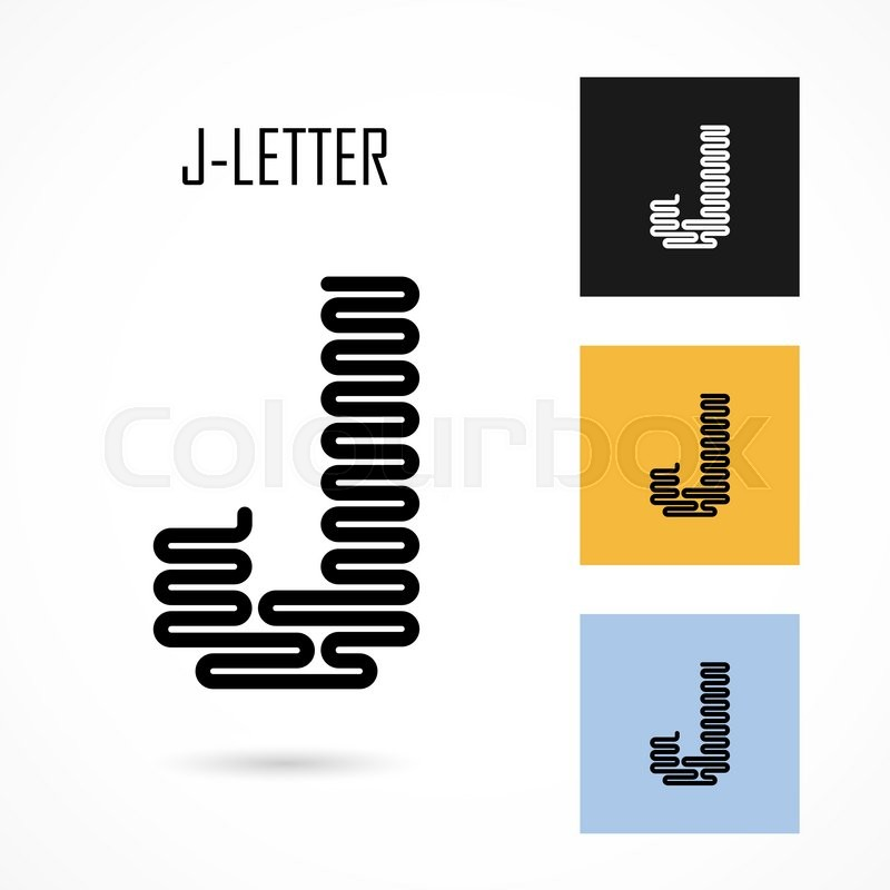 800x800 Creative J Letter Icon Abstract Logo Design Vector Template