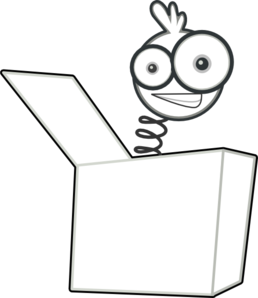 258x298 Jack In The Box Png Black And White Transparent Jack In The Box