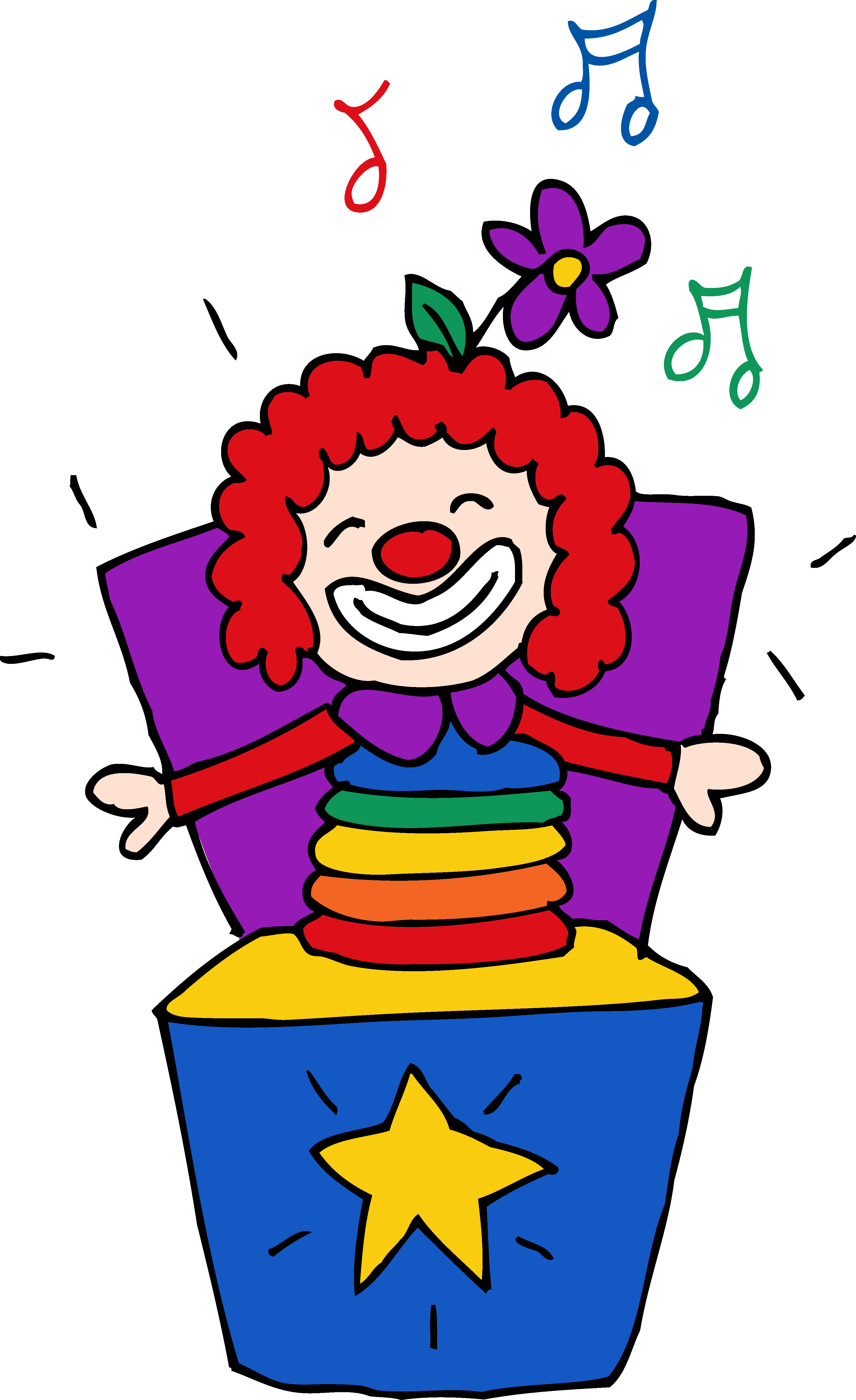 3399x5557 Colorful Jack In The Box Clipart