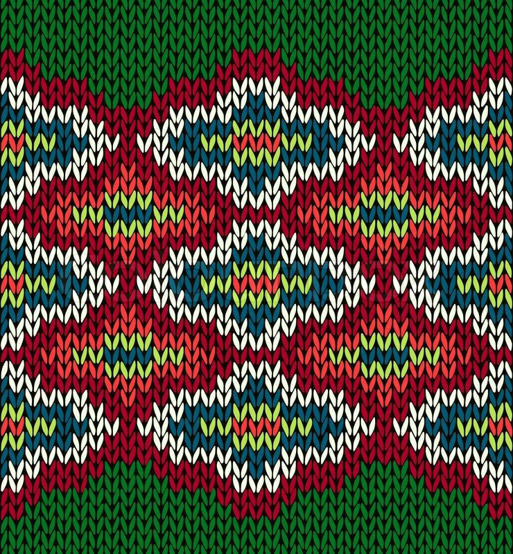 740x800 Knit Seamless Jacquard Ornament Pattern Stock Vector Colourbox
