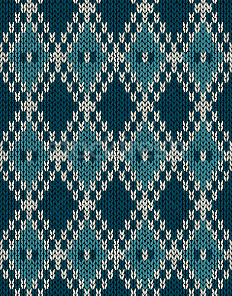 471x600 Knit Woolen Seamless Jacquard Ornament Pattern. Fabric Dark Blue