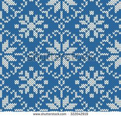 236x228 Knitted Winter Seamless Jacquard Pattern. Northern Style. Vector