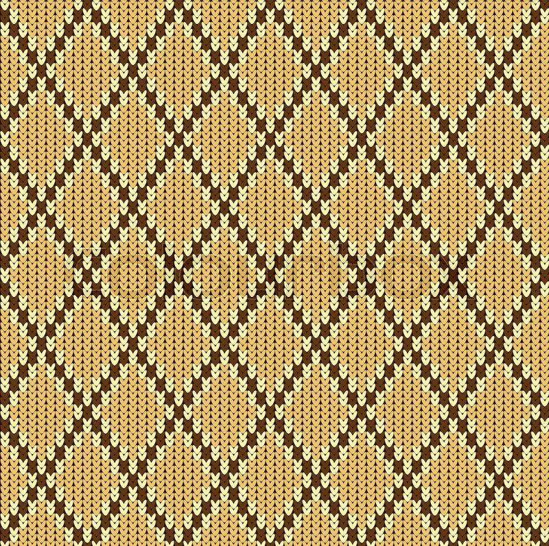 800x796 Knitted Woolen Seamless Jacquard Ornament. Beige Jacquard Pattern