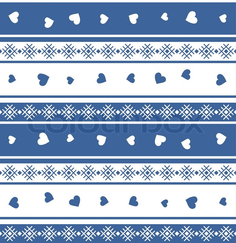 775x800 Seamless Jacquard Knit Valentine Eps 8 Stock Vector Colourbox