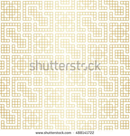 450x470 Golden Abstract Geometric Jacquard Pattern With Rhombus And