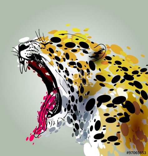 475x500 Vector Illustration Roaring Jaguar Stock Image And Royalty Free