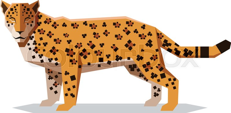 800x392 Vector Image Of The Flat Polygonal Jaguar Stock Vector Colourbox